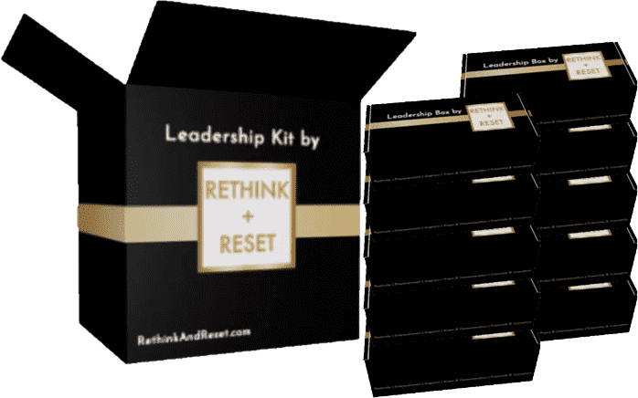rethink and reset leadership kit box